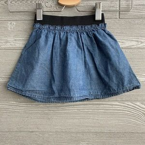 ⭐️ Chambray skirt with elastic waist band size 2T